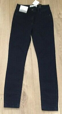 NEXT SIZE 8Reg Skinny Mid Rise Self Pattern Blue Jeans New Tag RRP £32.00