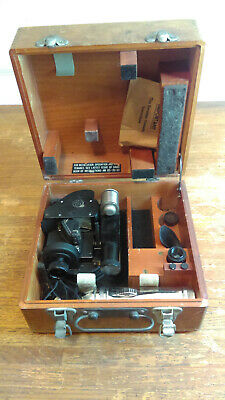 VTG WWII ANSCO U.S ARMY AIRFORCE B-17 BOMBER A-10A SEXTANT WOOD BOX B-17 Bomber