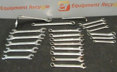 Craftsman Wrench Mechanics Machinist Tools Combination Metric Lot of 22 Used