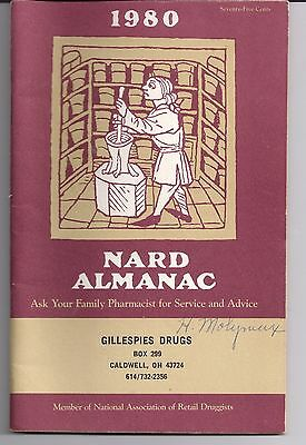 1980 NARD Almanac Gillespies Drugs Caldwell Ohio National Ass'n Retail Druggists