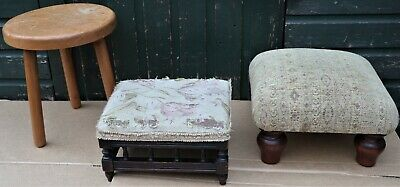 3 Good Solid Useful Small Foot Stools To Tidy Up