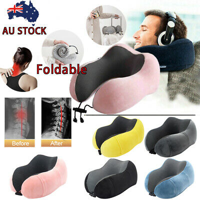 High Quality Memory Foam U Shaped Neck Pillow Travel Cushion Airplane Support
