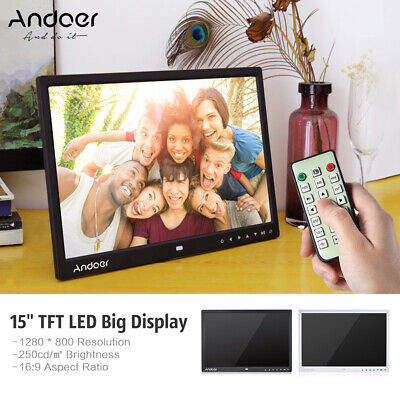 """8/10/12/15/18 """" HD LED Digital Photo Picture Frame Electronic Album Clock+Remote"""