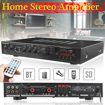 2000W 5CH 110V bluetooth Stereo AV Power Surround Amplifier For Karaoke