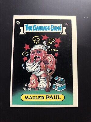 The Garbage Gang Mauled Paul 15b 1985 Card Sticker Vintage
