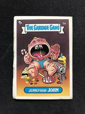 The Garbage Gang Junkfood John 2a 1985 Card Sticker Vintage