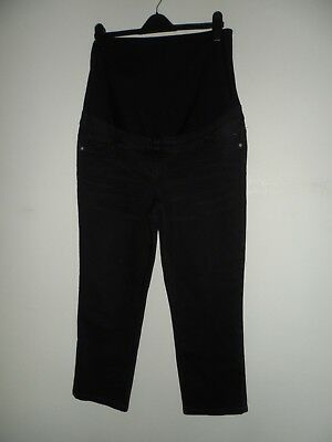 Bnwt new next black maternity over bump jeans size 10 short rrp £35 crop