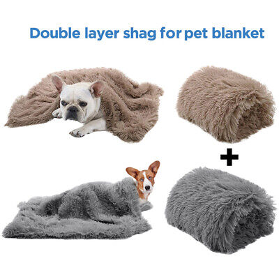 Pet Dog Cat Puppy Soft Blanket Cosy Warm Fluffy Throw Mat Bed Kennel Extra Large