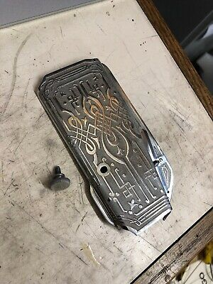 Vintage Original 1940 Singer 221 Featherweight Sewing Machine Ornate Face Plate