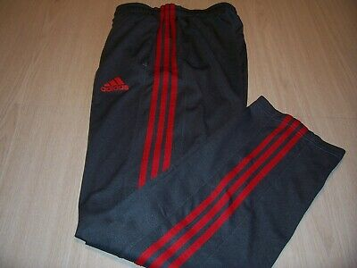 Adidas Climalite Gray W/Red Stripes Athletic Pants Mens Small Excellent
