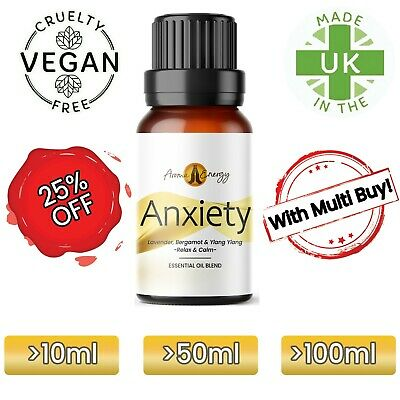 ANXIETY Essential Oil (Lavender, Ylang, Bergamot) Essential Oil For Anxiety
