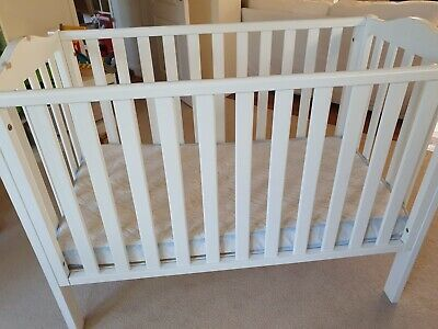 John Lewis & Partners White Wooden Baby's Cot