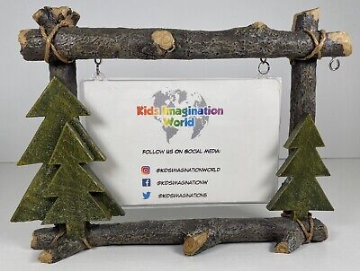 St. Nicolas Square Picture Frame Winter Cabin. NEW