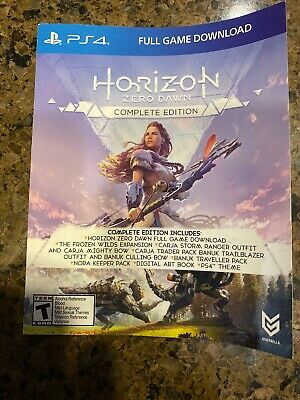 Horizon Zero Dawn Complete Edition PS4 Digital Code. US/CAD only.