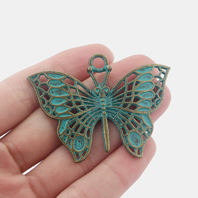 5Pcs Ancient Greek Bronze Butterfly Charms Pendants For Jewelry Necklace Making