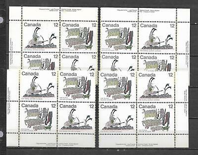 pk47626:Stamps-Canada #751a Inuit Hunting 12 cent Plate Block Set - MNH