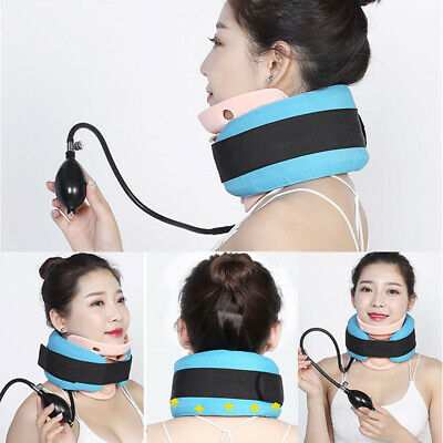 Inflatable Cervical Collar Neck Therapy Pain Relief Traction Brace Stretcher