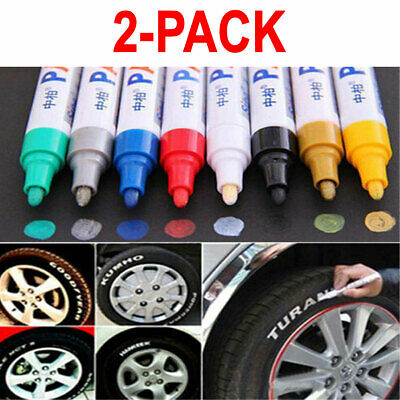 2X Waterproof Permanent Paint Marker Pen for Car Tyre Tire Tread Rubber Metal