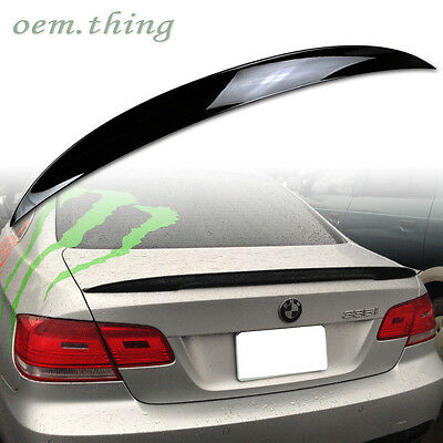 Painted Color BMW 3-Series E92 Coupe High Kick P Style Trunk Spoiler 328i 335xi