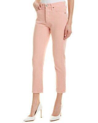 Alice + Olivia High-Rise Girlfriend Slim Leg Pink Women's