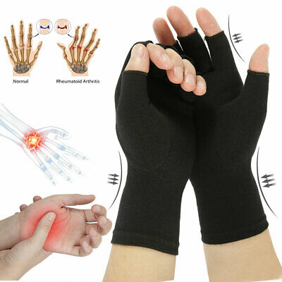 Anti-Arthritis Fingerless Gloves Compression Hands Pain Relief Sports Support