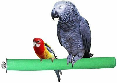 1pcs Bird Perch Rough Surfaced Wooden Parrot For Cage Stand Straight