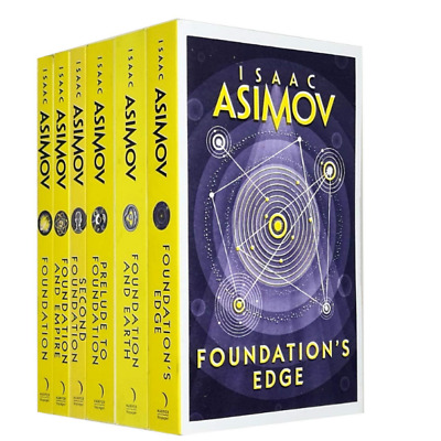 isaac asimov collection 6 books set (second foundation, foundation and empire, f
