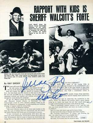 Jersey Joe Walcott Jsa Coa Autograph 8x10 Photo Page Hand Signed Authentic