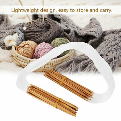 18 Pairs 16inch Multicolor Carbonized Bamboo Circular Tube Knitting Needles L1F4
