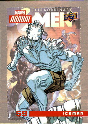 2017 Upper Deck Marvel Annual 2016 Trading Card #59 Iceman