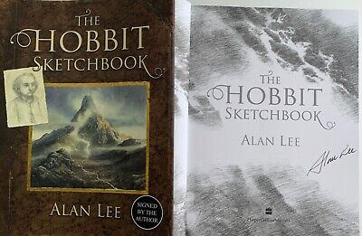 Alan Lee The Hobbit Sketchbook Hand Signed Autographed Book Lord Of The Rings