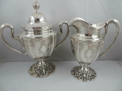 Creamer & Sugar Bowl ADAM Shreve & Co Sterling Silver 9760 & 9750 San Francisco