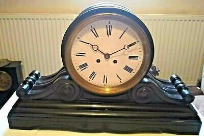 "Gigantic French Marble Drum Head Clock by ""Samuel Marti"". Very Large Dial!!"