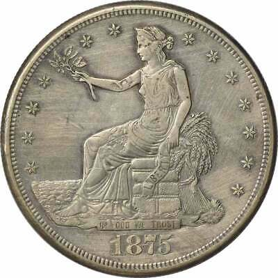 1875-S Trade Silver Dollar EF 2 Chops Uncertified