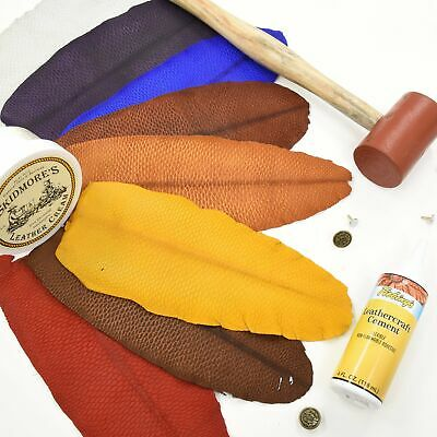 Beaver Tail Leather Bucking Rolls for sheaths & holsters Chrome Tan