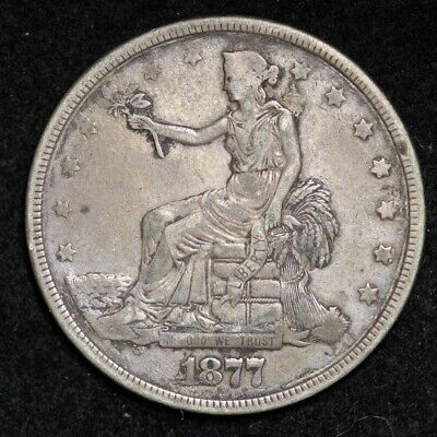 1877 Trade Dollar CHOICE XF FREE SHIPPING E693 KCNM