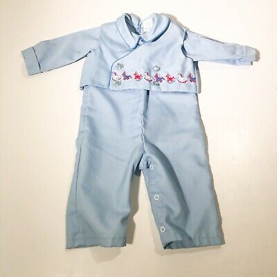 VTG Baby Boy Doll Outfit By Thomas Pants Vest Suit Horses size 6 9 months