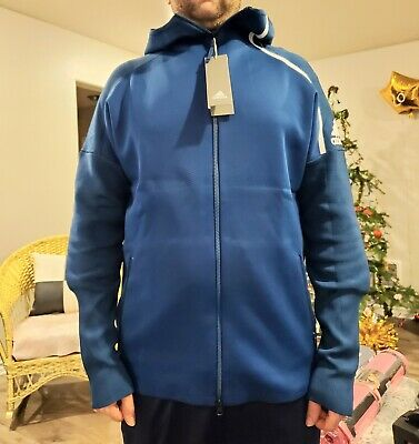 Adidas z.n.e. hd pk primeknit hoodie full zip new with tags mens size L  dp5146