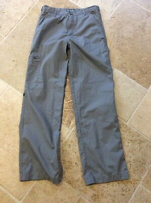 Craghoppers Solarshield Grey Walking Hiking Combat Cargo Trousers Boys Age 13