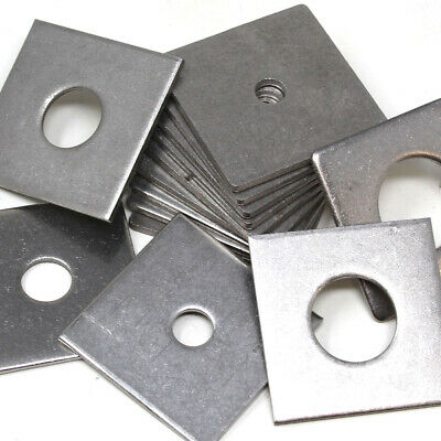 Heavy Duty Thick Square Plate Washers A2 / A4 Marine Grade Stainless Steel Uk