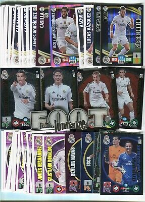 Gran Lote REAL MADRID  1000 Different Cards  Panini  MGK  Adrenalyn MC  E.Este