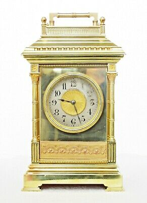 "Rare Antique French ""Giant"" Carriage Clock 9.5"", Striking, Serviced, Works Well"