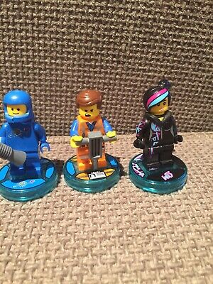 Lego Dimensions The Lego Movie Minifigures X 3 With Discs