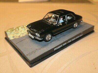 James Bond 007 Collection 1//43 PEUGEOT 504-For your eyes only in box #5639