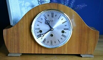 Vintage Chiming Mantel Clock Bentima Eight Day Mantle Clock  (refT29)