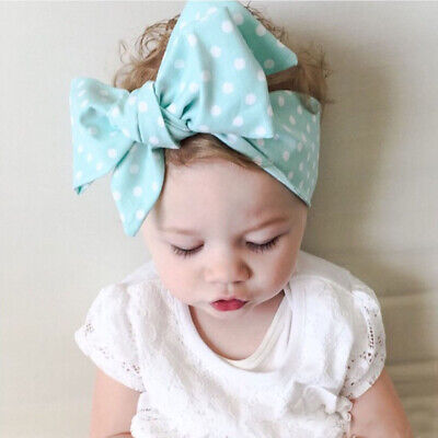 FJ- Fashion Kid Big Bowknot Baby Girl Hairband Head Wrap Headwear Headband Acces