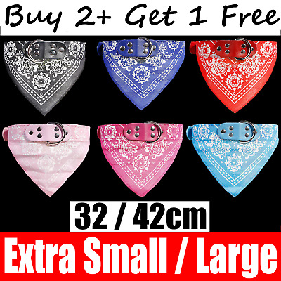 Dog Neck Neckerchief Bandana Xmas Collar Adjustable Pet Cat Puppy Scarf XS L UK