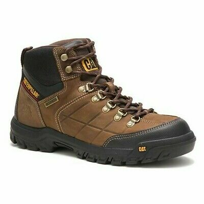 CAT Caterpillar Men's P74128 Threshold WP Soft Toe Real Brown Work Boots Shoes