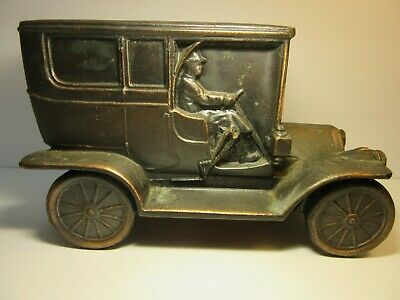 Vintage Banthrico Metal Car Bank Chicago USA