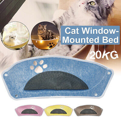 20kg max. Cat Window Hammock Bed Pet Seat Suction Cup Mounted Hanging Cushion